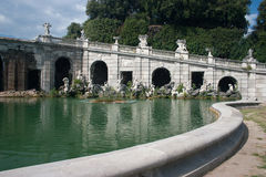 Curve. Italy-Caserta-Inside the garden of the Royal palace Stock Images