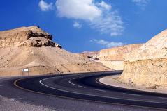 Curve. Curvature on the mountain  road Royalty Free Stock Photo