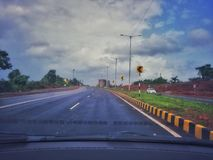 Curve ahead. Goa dairy long drive vacation time royalty free stock photography