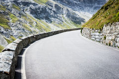 Curve at the alps Royalty Free Stock Images
