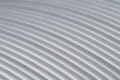 Curve aluminium sheet roof, factory steel roof.  Stock Photography