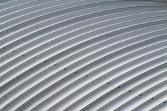 Curve aluminium sheet roof, factory steel roof.  Stock Image