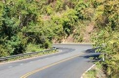 Curve asphalt road Stock Photography