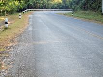 Curve asphalt road view. Background royalty free stock image