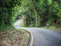 Curve asphalt road view Stock Photos