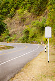 curve asphalt road view Royalty Free Stock Photos