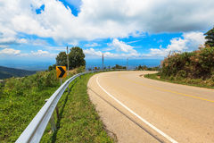 Curve asphalt road view Royalty Free Stock Image