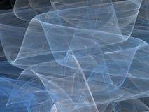 Curve astratte blu di frattale con le onde trasparenti Fotografie Stock Libere da Diritti