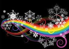 Curve astratte del Rainbow Fotografie Stock Libere da Diritti