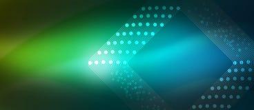 Curve astratte e forme nel fondo blu e verde vago fotografia stock