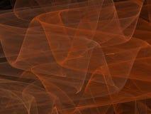 Curve astratte rosse di frattale con le onde trasparenti Fotografie Stock Libere da Diritti