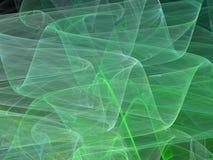 Curve astratte verdi di frattale con le onde trasparenti Fotografia Stock Libera da Diritti