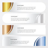 Curve banner style   gold, bronze, silver, blue color Royalty Free Stock Photography