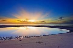Curve bay on the beach. In Thailand stock photos