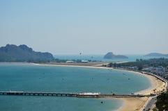 Curve bay landscape royalty free stock photo