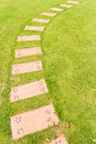Curve of block pathway Royalty Free Stock Images