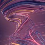 Curve blu e rosa astratte intreccianti rappresentazione 3d Immagini Stock Libere da Diritti