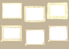 Curve brown photoframe. Set with a curve vector photoframe of brown color Royalty Free Stock Photo