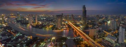 Curve of Chao Phraya river Royalty Free Stock Photo