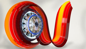Curve with clock Royalty Free Stock Image