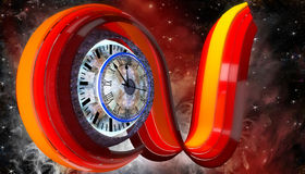 Curve with clock Royalty Free Stock Photos