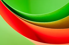Curve color paper background Stock Images