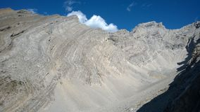 Curve cores de banff do vale do anfiteatro da cascata do outono Foto de Stock Royalty Free
