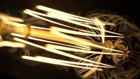 Curve decorate di tungsteno incandescente archivi video