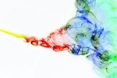Curve del fumo colorato Immagine Stock