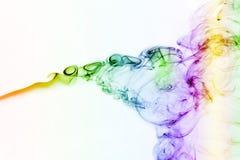 Curve del fumo colorato Fotografia Stock