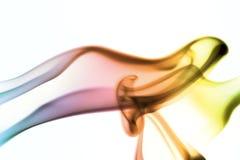 Curve del fumo colorato Immagini Stock Libere da Diritti