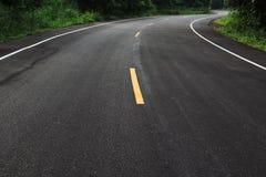 curve den dramatiska vägen Fotografering för Bildbyråer
