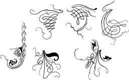 Curve di Baroque degli elementi di disegno. illustrazione di stock