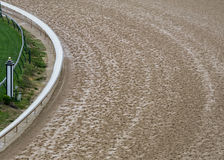Curve of Dirt Track. With interior grass track Royalty Free Stock Image