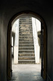 Curve door. The old curve door and pathway Royalty Free Stock Photo