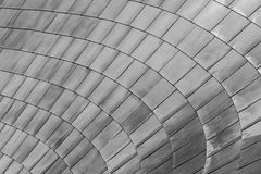 Curve of Dragon Scale Metal Panels Royalty Free Stock Image