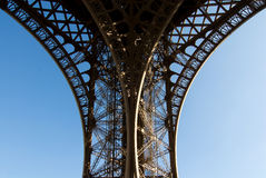 Curve of Eiffel Tower Royalty Free Stock Image