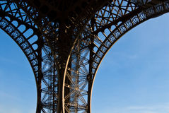 Curve of Eiffel Tower Royalty Free Stock Photography
