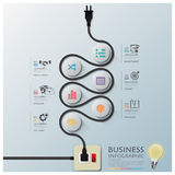 Curve Electric Wire Line Diagram Business Infographic. Design Template royalty free illustration