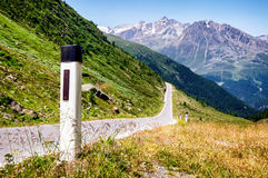 Curve. At the european alps Stock Images