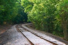 curve gammal järnväg Arkivfoton