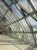 Curve glass wall. At Thailand, Suvarnabhumi international airport Royalty Free Stock Photos