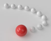 Curve of glossy balls Royalty Free Stock Image
