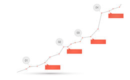 Curve graph. Vector illustration of curve graph Royalty Free Stock Photos