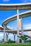 Curve of the highway bridge. With brighten sky view Royalty Free Stock Photos