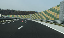 Curve in the highway Stock Image