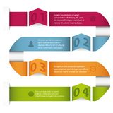 Curve infographic template Stock Illustration