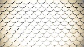 Curve la textura del oro ligero y del fondo blanco fotografía de archivo