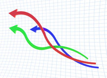 Curve line of chart Stock Photos