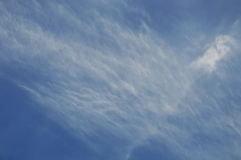 Curve and line of cloud on sky in sunny day. Curve and line of cloud on the sky in sunny day stock images